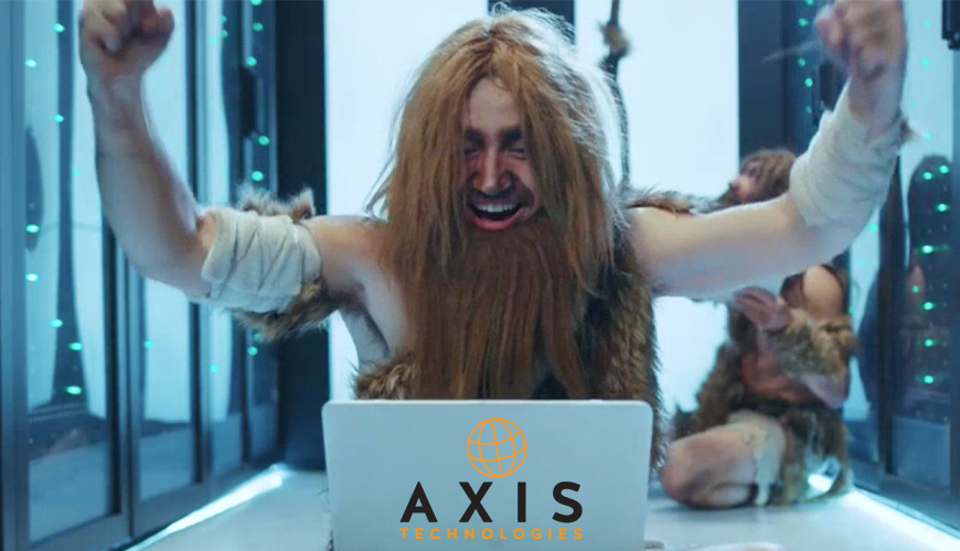 Axis Tech the evolution of Technology caveman